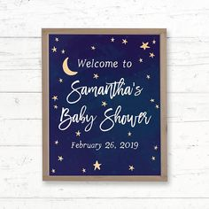Twinkle Twinkle Little Star Printable Welcome Sign Baby Shower by CrissyDesignCo