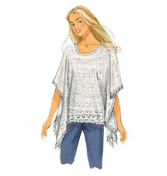 Super-easy top to sew. Just make sure to pick a lightweight fabric with a soft drape. Butterick B6173, Misses' Tunic and Top
