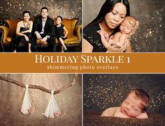Christmas photo overlays Holiday Sparkle 1 by BrownLeopard on Etsy