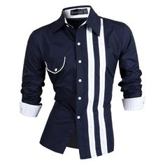 Item Type: Shirts Gender: Men Style: slim fit Sleeve Length(cm): Full Shirts Type: Casual Shirts Collar: Turn-down Collar Model Number: Collection Fabric Type: Broadcloth Material: Cotton,Polyester Closure Type: Single Breasted Pattern Type: Print Sleeve Style: Regular Size Shoulder(cm) Chest (cm) Length(cm) Sleeve (cm) S 40 96 69 62 M 43 102 72 65 L 45 106 74 66 XL 47 110 76 67 XXL 48 114 77 68