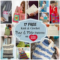Crochet Finds - Red Heart Yarns Free Bag and Tote Patterns | Pattern Paradise
