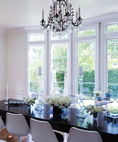 Look Inside Rachel Zoe's Chic Home - The Dining Room from #InStyle