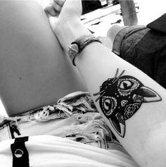 cat tattoo idea #Ink #girly #tattoos