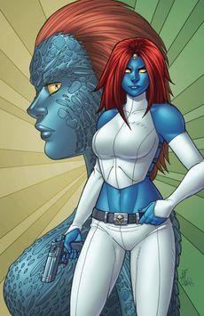 Mística, personaje de marvel de la saga x-men.Es una de las enemigas y su poder es transformarse en cualquier persona.
