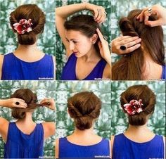 Summer vintage hair with flower