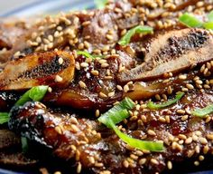 Authentic Kalbi recipe: Korean BBQ shortribs.   I am having this for dinner right now.   This is so freaking delicious!!!   Be sure to read part 1 for the marinade and how to tips.