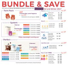 Scentsy 2017 fall winter Bundle and Save options