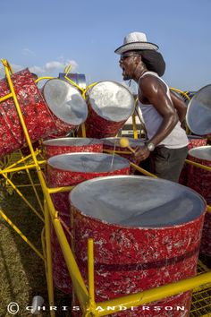 Steel Pan player at Trinidad Carnival 2014 from www.caribbeanphotoart.com
