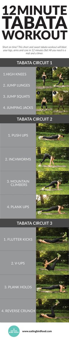 12 Min Tabata Workout | Posted By: NewHowToLoseBellyFat.com