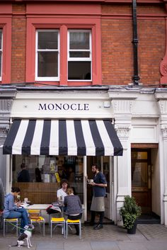 The small but perfectly formed Monocle Cafe in Marylebone. It's so close to many touristy places and yet still manages to feel intimate and local. They've been using since opening and are doing a pretty fine job of it. by caffeinemag Monocle Cafe, Kensington Palace Gardens, Shop Facade, Hampstead Heath, Gal Meets Glam, Beautiful Sites, London Travel, Wanderlust Travel, Great View