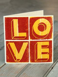 LOVE card – The Firecracker Press