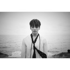 BTS Opts for Moody Black and White for Latest Concept Photos for... ❤ liked on Polyvore featuring bts and k-pop