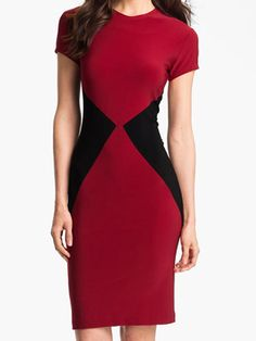 Red and Black dress love the colors, very rich  Dresses That Make You Look Thinner Cosmopolitan