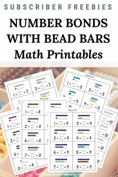 Would you like your students to do some extra practice working with addition facts that add to 5, 6, 7, 8, 9, and 10? I added a new freebie to the Math Activities section of the Resource Library. Sums to 10 task cards can be used with bead bars or with clipart bars included in the printable.