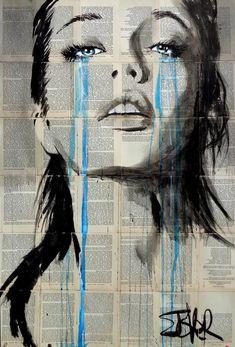 Louis Zhover ( the Loui Jover ) - Australian artist who uses canvas instead of old books - Art And Beauty Art Prints, Australian Artists, Newspaper Art, Deep Art, Loui Jover Art, Art, Jover, Portrait Art, Pop Art