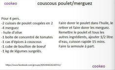 couscous poulet merguez cookeo