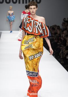 chips dress by Moschino 2014/2015