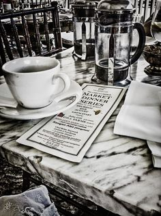 Love this black and white coffee shop photography.