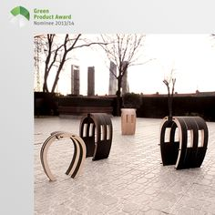 4th place Professionals Green Product Award 2013/14, category Kids: This stool collection is designed for a short break, in a garden, terrace, playground or indoors. Its rounded shape allows for many ways of sitting and two or three stools can be connected to a large bench. Furthermore, several sections with different surfaces can be added. These consist of laser-cut modular units of the same material board. The assembling parts are made from the same material and must not be glued or…