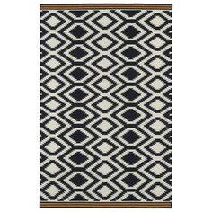 Kaleen Nomad Black Geometric Area Rug & Reviews | Wayfair