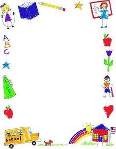 , Borders Frames Marco, School Border, Border Clipart, Page Border . Page Boarders, Boarders And Frames, Printable Border, Free Printable, Back To School Clipart, School Border, School Frame, School Images, Clip Art