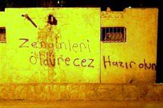 OĞUZ TOPOĞLU : zenginleri öldürecez hazır olun - duvar yazıları