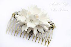 Clay flower hair