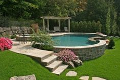Having a pool sounds awesome especially if you are working with the best backyard pool landscaping ideas there is. How you design a proper backyard with a pool matters. Above Ground Pool Landscaping, Above Ground Pool Decks, Sloped Backyard, Backyard Pool Landscaping, Backyard Pool Designs, Small Backyard Pools, Small Pools, Swimming Pools Backyard, Swimming Pool Designs