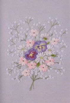 Flower in my garden hand embroidery stitch sewing applique patchwork quilt PDF e-patterns