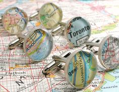 Items similar to Vintage Map Sterling Silver Round Cufflinks. You Select the Journey. on Etsy Handmade Father's Day Gifts, Handmade Ideas, Graduation Gifts For Him, Vintage Cufflinks, Custom Map, Craft Sale, Silver Rounds, Cute Gifts, Custom Jewelry