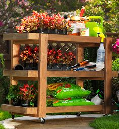 This DIY rolling storage cart would be fabulous for gardening! Popular DIY blogger Ana White created the tutorial for this cart especially for The Home Depot's Do-It-Herself Workshops. Click through for the how-to on The Home Depot Blog.
