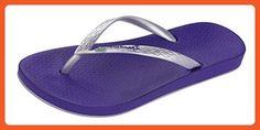 Ipanema Beach Womens Flip Flops / Sandals-Navy-6 - Sandals for women (*Amazon Partner-Link)