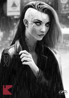 Images for cyberpunk anime girl Cyberpunk Kunst, Cyberpunk Anime, Cyberpunk Girl, Cyberpunk 2077, Character Portraits, Character Art, Character Concept, Futuristic Art, Ex Machina