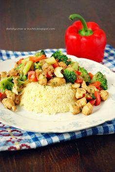 Moje Dietetyczne Fanaberie: Kasza jaglana z kurczakiem i indyjską nutą
