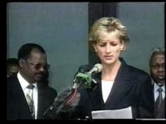 January 13, 1997: Diana, Princess of Wales upon her arrival at the Luanda Airport, Angola announced she had joining the international campaign by working with the Red Cross to ban landmines.