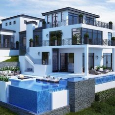 dream mansion 41 most expensive fancy houses design in the world you will be like it 16 Dream Mansion, Mansion Houses, Dream Homes, Houses Houses, Nice Houses, Casas Containers, Modern Mansion, Modern Homes, House Goals
