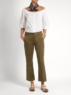 Frame Le Crop Mini Boot stretch-cotton trousers