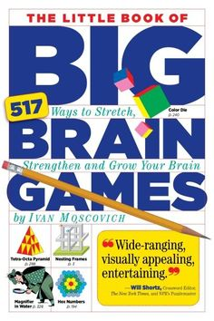 The Little Book Of Big Brain Games. Low tech way for seniors to begin their brain exercise.