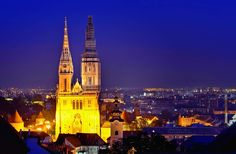 The Zagreb Cathedral stands on Kaptol as the tallest building in Croatia! Its spires can be seen from many locations in the city. This particular shot was taken from Lotrščak Tower on an autumn night.  This typically Gothic cathedral is dedicated to the Assumption of Mary and to kings Saint Stephen and Saint Ladislaus.  Interesting History  Construction of this monument started in 1093. Few hundred years later in 1242 Tatars destroyed it. Another few hundred years later in 15th century the… Assumption Of Mary, Gothic Cathedral, Fortification, Ottoman Empire, Interesting History, Bosnia, 15th Century, Croatia, Saint Stephen