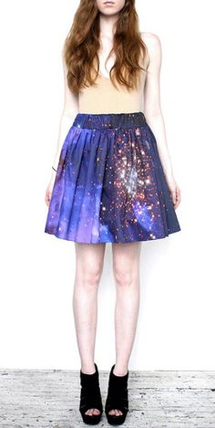 Starburst Galaxy Skirt. This is SO over the top but I still like it. Maybe better in a pencil cut?