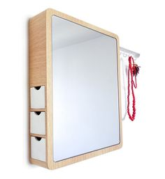 'Precious' Mirror contains hidden storage for jewellery and other accessories