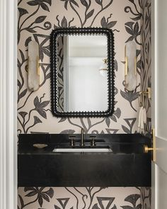 Khovar Collection, Vine Wallpaper by l'aviva home seen at Private Residence, Seattle | Wescover Decor Collection, Wallpaper, Master Bathroom Design, Bathroom Makeover, Luxury Homes, Open Plan Bathrooms, Amazing Bathrooms, Luxury Home Decor, Accent Wallpaper