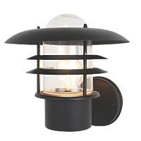 Zinc Vulcan Black Tiered Wall Lantern 60W