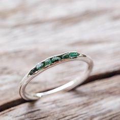 Emerald Ring // Hidden Gems - Gardens of the Sun Jewelry