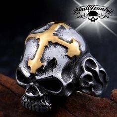 """""""Holy Avenger"""" Skull Ring (678)"""