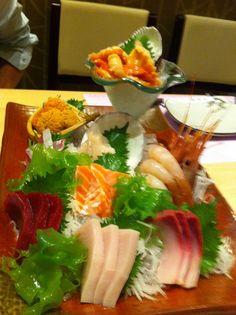 sashimi #Sushi #Sushimi. Sashimi has no rice.