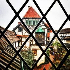 Looking out of Wartburg Castle, Eisenach