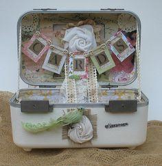 Wedding Card Box  Vintage Suitcase  Shabby by TheShabbyChicWedding