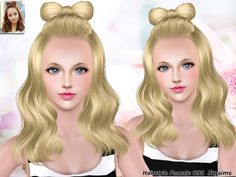 Bow hairstyle 093 by Skysims for Sims 3 - Sims Hairs - http://simshairs.com/bow-hairstyle-093-by-skysims/