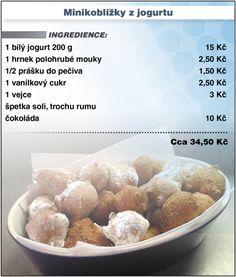 Levně a chutně - Recept na jogurtové minikoblížky